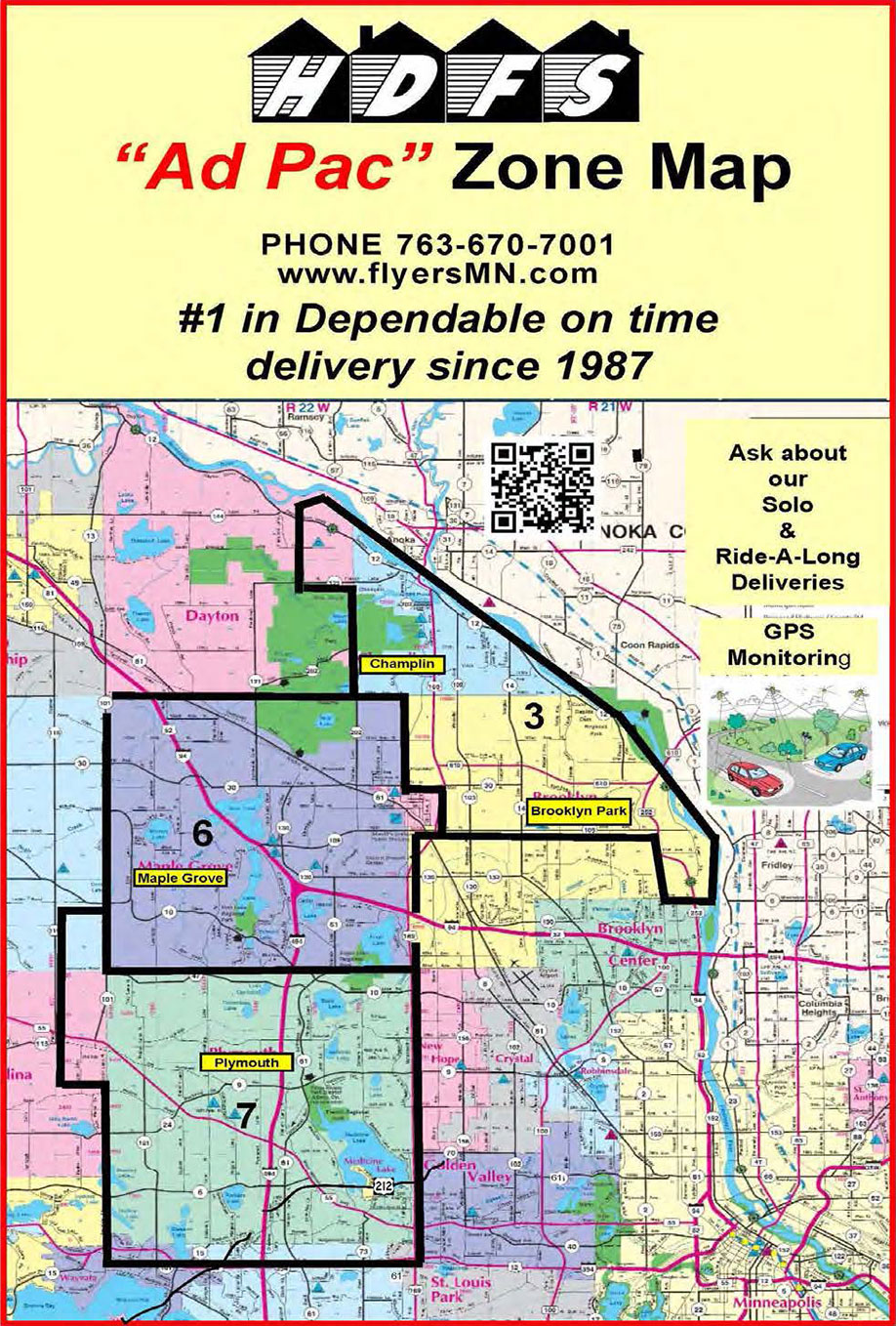 Home Delivery Flyer 2019 Minnesota Delivery Zone Map